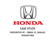 Honda Case Study - SCM