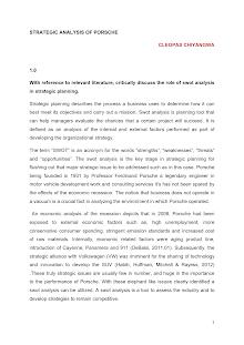 Strategic analysis of porsche