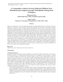 Study on Total Quality Management Techniques