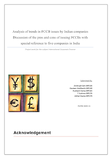 Trends in FCCB Issues by Indian Companies