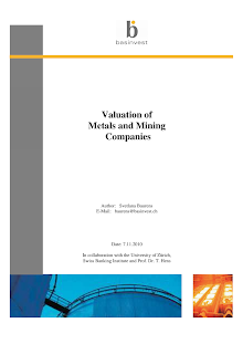 Study on Valuation of Metals and Mining Companies