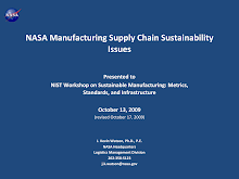 Manufacturing Supply Chain Sustainability Issues at NASA