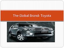 Toyota - The global brand