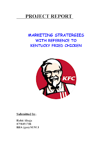 MARKETING STRATEGIES WITH REFERENCE TO KENTUCKY FRIED CHICKEN