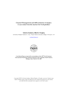White Paper on Channel Management and Differentiation Strategies