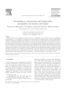 Accounting as simulacrum and hyperreality: perspectives on income and capital