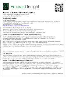 Global imbalances and a trade finance nexus