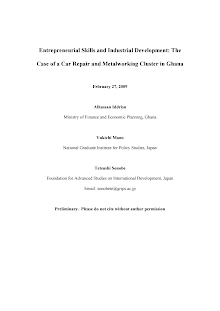 Study on Entrepreneurial Skills and Industrial Development