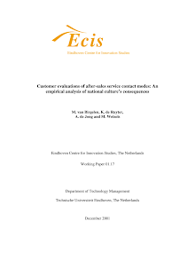 Study Paper on Customer Evaluations of After-Sales Service Contact Modes
