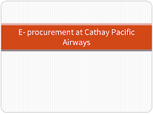 eProcurement at Cathay