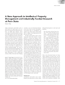 Intellectual Property Management and Industrially Funded Research