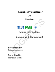 blue dart logistic project