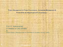 Project Management to Project Governance