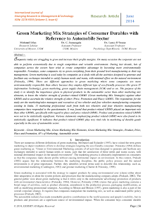 Research Study on Consumer Durables with Reference to Automobile Sector