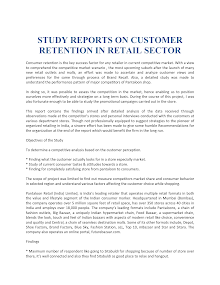 Study Reports on Customer Retention in Retail Sector