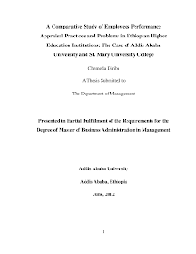 Thesis on Employees Performance Appraisal Practices