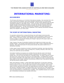 Study on Scope of International Marketing