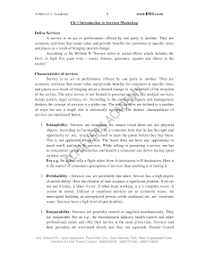 Service Sector Management Notes