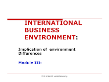 International Business enviorment ppt