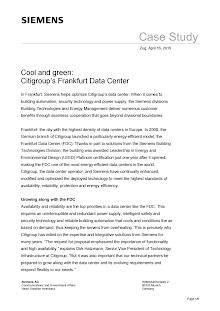 Case Study on Citigroups Frankfurt Data Center