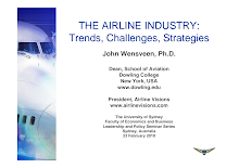 THE AIRLINE INDUSTRY: Trends, Challenges, Strategies