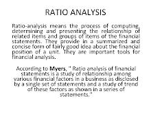 PRESENTATION ON RATIO ANALYSIS