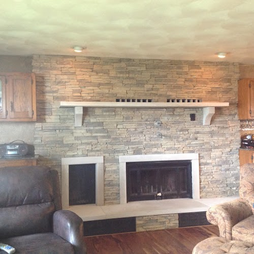 Eldorado Alderwood Stacked Stone 002- Fireplace