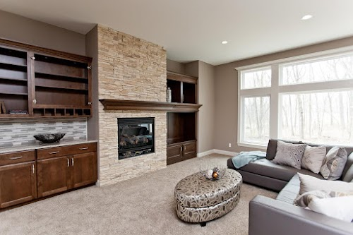Eldorado Dry Creek Stacked Stone -Fireplace