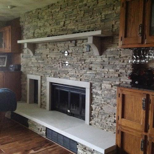 Eldorado Alderwood Stacked Stone 001- Fireplace
