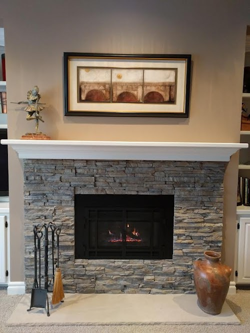 Eldorado Nantucket Stacked Stone 001- Fireplace
