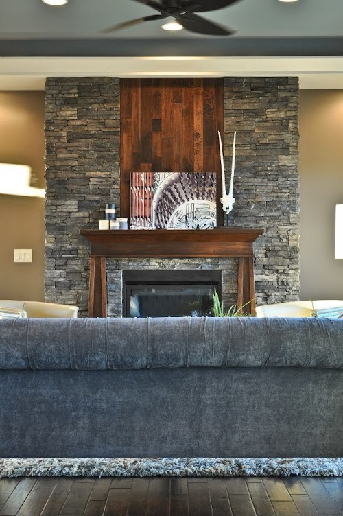 Eldorado Chapel Hill Stacked Stone Fireplace 007