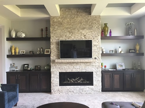 Eldorado Cottonwood European Ledgestone  - Fireplace