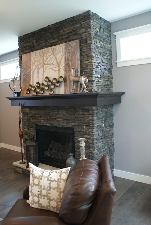 Eldorado Chapel Hill Stacked Stone Fireplace 014