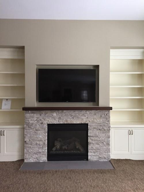 Eldorado Cottonwood European Ledgstone Fireplace 001