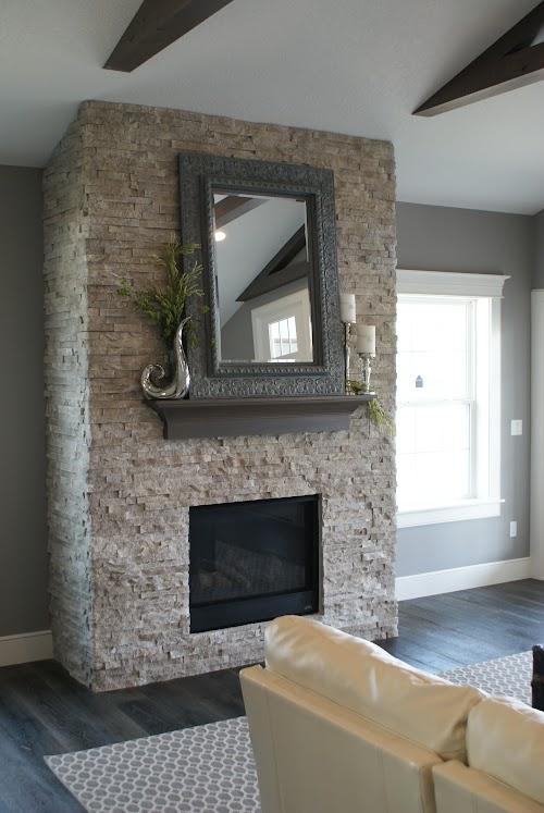 Eldorado Cottonwood European Ledgestone Fireplace 010
