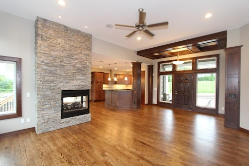 Eldorado Nantucket Stacked Stone Fireplace 001