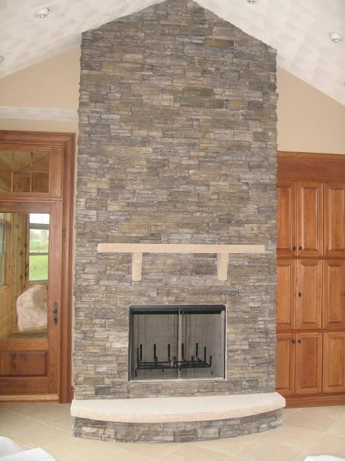 Eldorado Chapel Hill Stacked Stone 001 - Fireplace