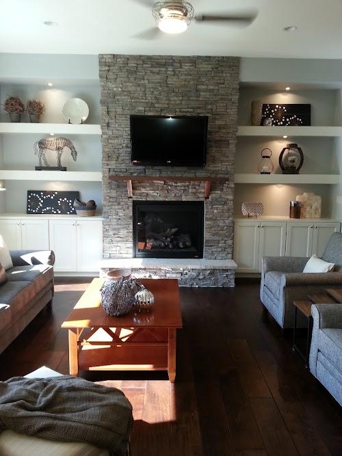 Eldorado Nantucket Stacked Stone Fireplace 005