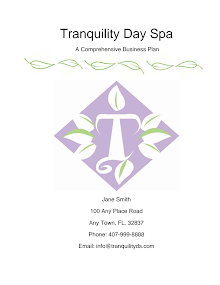 Transquility Day Spa A Comprehensive Business Plan
