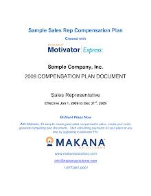 Sample Sales Rep Compensation Plan