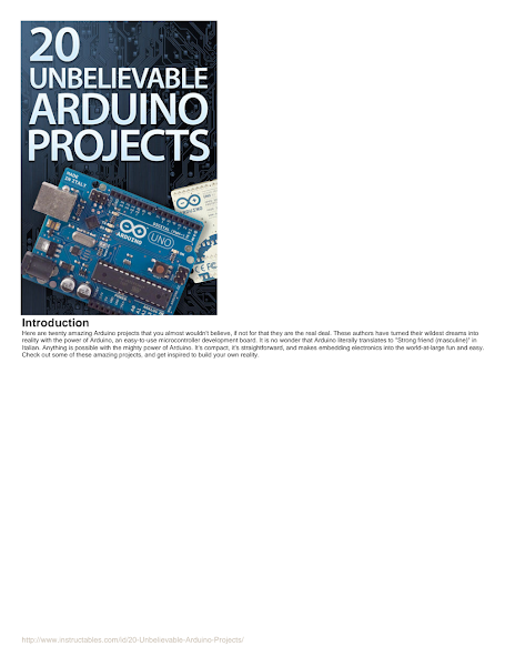تحميل كتاب 20-Unbelievable-Arduino-Projects.pdf - كتب تعلم الاردوينو