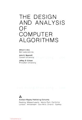 0201000296 {1B5B5305} The Design and Analysis of Computer Algorithms [Aho, Hopcroft _ Ullman 1974-01-11].pdf