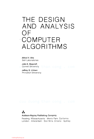 0201000296 {1B5B5305} The Design and Analysis of Computer Algorithms [Aho, Hopcroft _ Ullman 1974-01-11].pdf