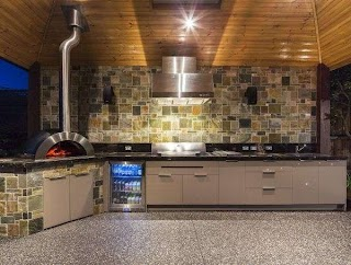Stainless Steel Outdoor Kitchen Melbourne Stylish S Using Recessed Ceiling Spotlights