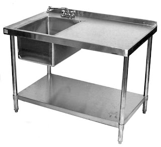 Outdoor Kitchen Work Table Stainless Steel Restaurant with Prep Sink