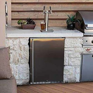 Outdoor Kitchen Kegerator Amazoncom Edgestar Kc7000ssodtwin Full Size Tower Cooled Dual Tap