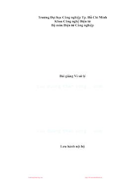 ĐHCN.Bài Giảng Vi Xử Lý - Nhiều Tác Giả, 198 Trang.pdf