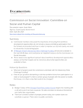 Commission on Social Innovation: Committee on Social and Human Capital