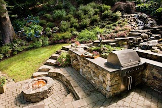 Outdoor Kitchen with Firepit 13 Fire Pits and Fireplaces in S Hgtv