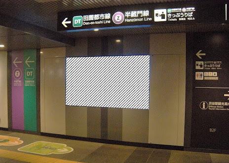 田園都市線渋谷駅 ビッグサイネージ